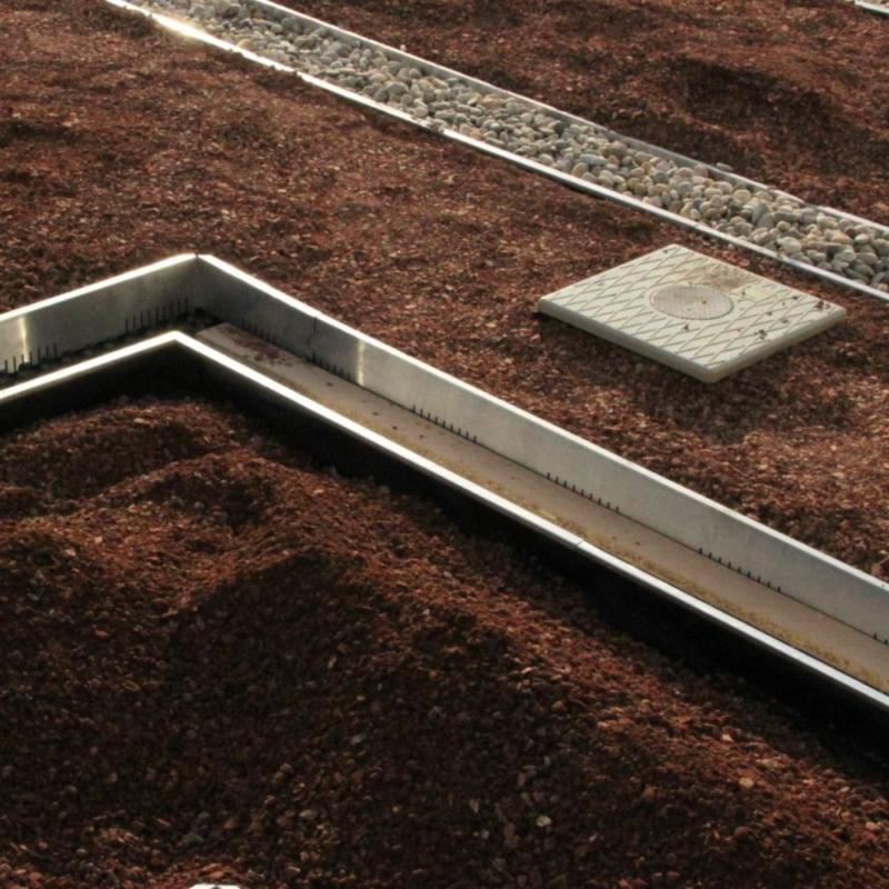 GreenTech Alumínium kavicsléc, fémszegély